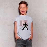 Camiseta Infantil Elvis Presley Branca