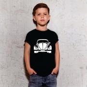 Camiseta Infantil Fusca Preta