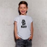 Camiseta Infantil Kiss Branca