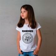 Camiseta Infantil Ramones Branca