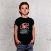 Camiseta Juvenil Fusca Retrô Preta