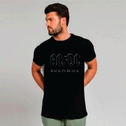 Camiseta Masculina Adulto AC/DC Back in Black STAMP