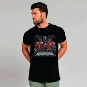 Camiseta Masculina Adulto AC/DC Black Ice STAMP
