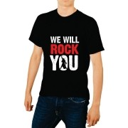 Camiseta Masculina Adulto We Will Rock You Queen