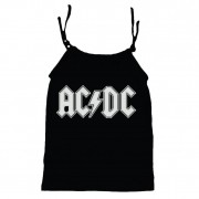 Camisola Little Rock Infantil Viscolycra AC/DC Preta
