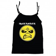 Camisola Little Rock Infantil Viscolycra Iron Maiden Preta