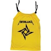 Camisola Little Rock Infantil Viscolycra Metallica Amarela