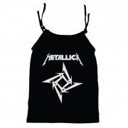 Camisola Little Rock Infantil Viscolycra Metallica Preta
