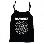Camisola Little Rock Infantil Viscolycra Ramones Preta