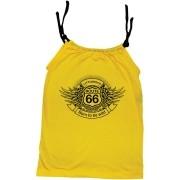 Camisola Little Rock Infantil Viscolycra Rota 66 Amarela