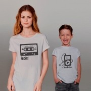 Kit Camisetas Mãe e Filho Fita K7 IPHONE