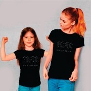 Kit Camisetas Mãe e Filha AC/DC Back in Black