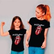 Kit Camisetas Mãe e Filha Rolling Stones