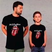Kit Camisetas Pai e Filho Rolling Stones