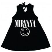 Vestido / Bata Bebê Nirvana Preto