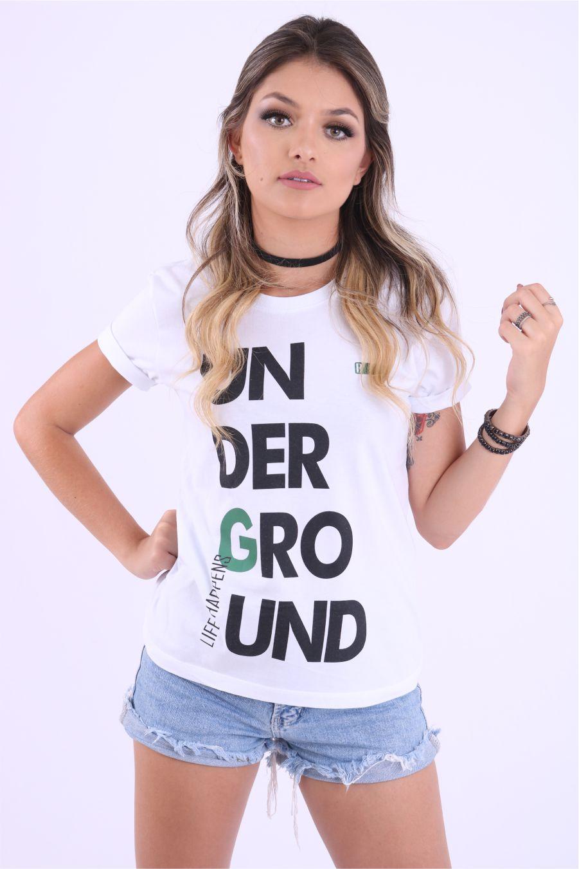 Blusa Feminina Life Happens Underground