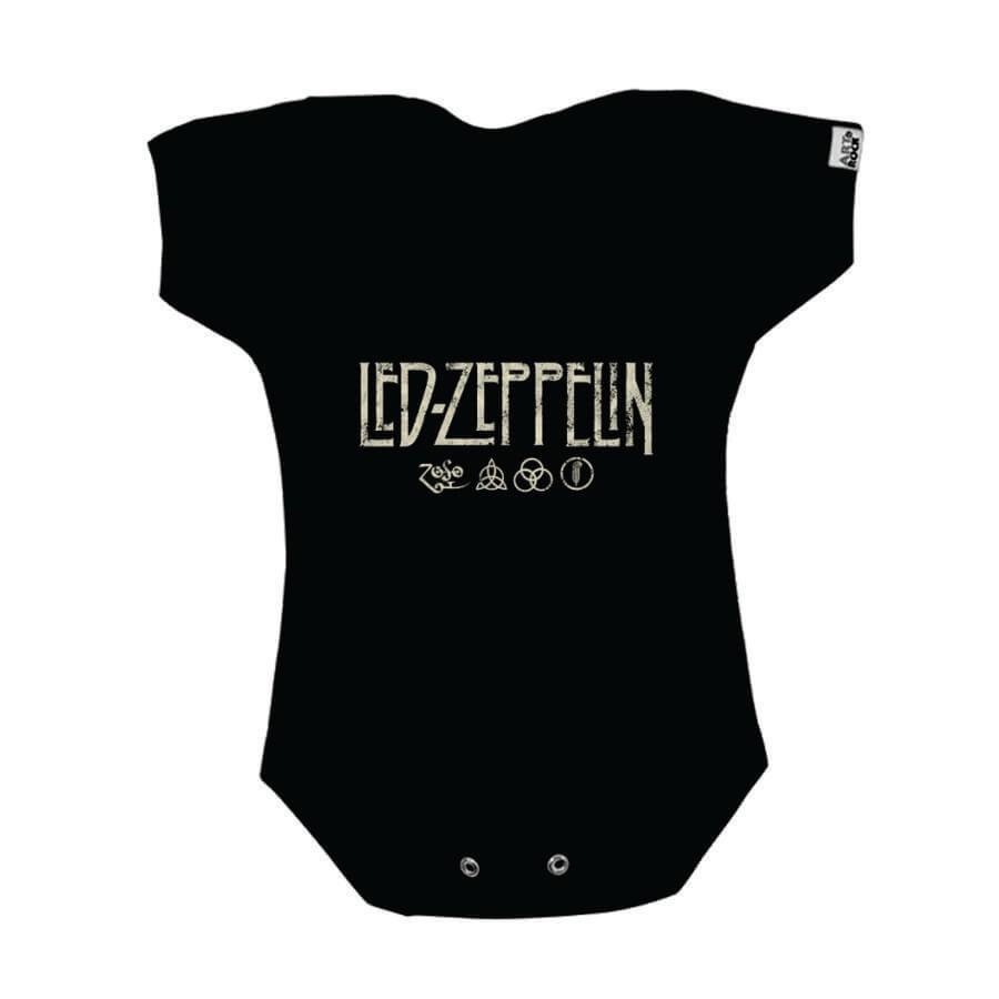 Bodie Bebe Art Rock Led Zeppelin Preto