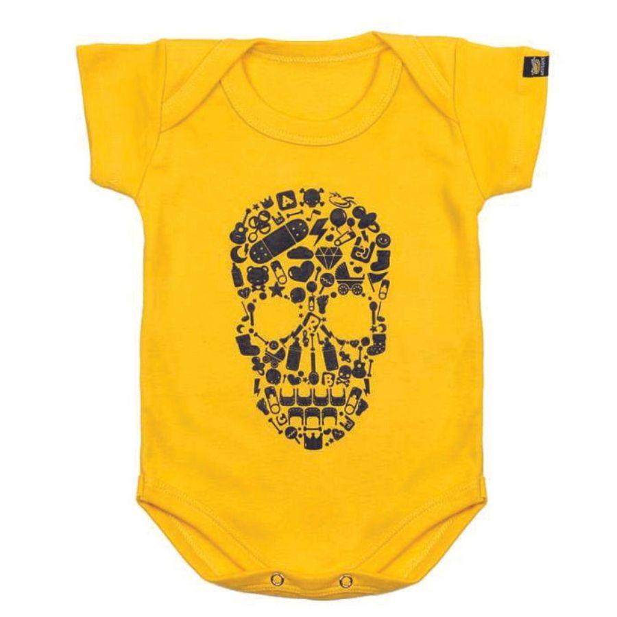 Bodie Bebe Caveira Amarelo Art Rock