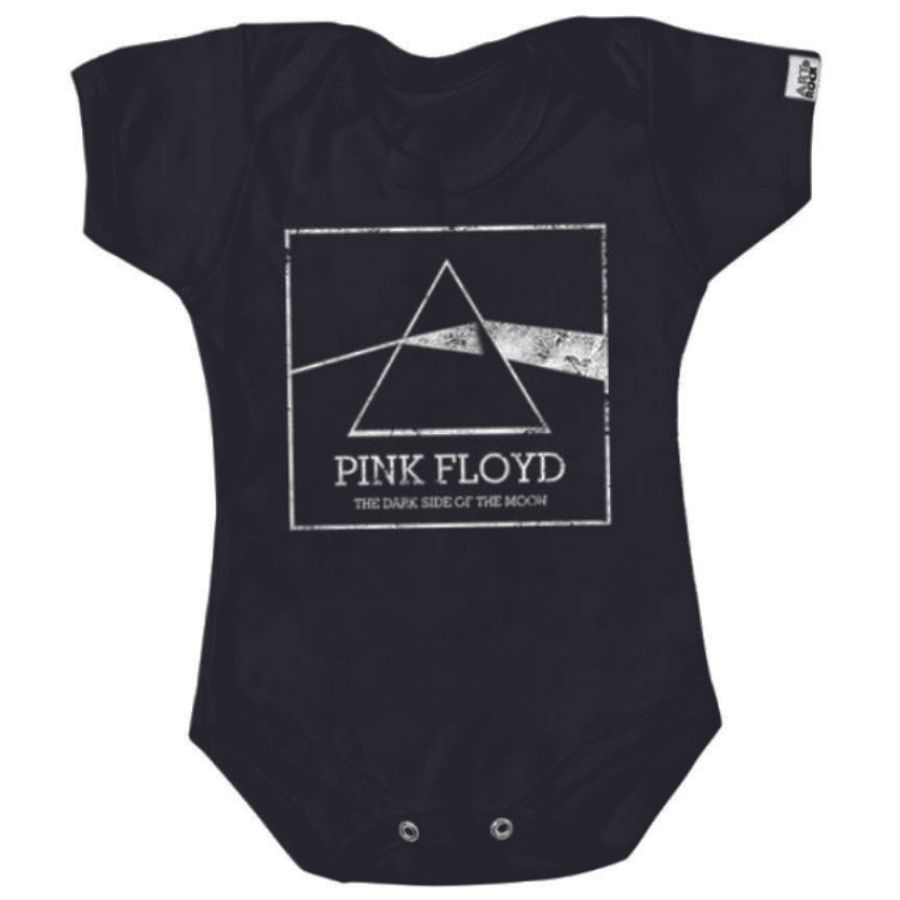 Bodie Infantil Pink Floyd Dark Side Preto Art Rock