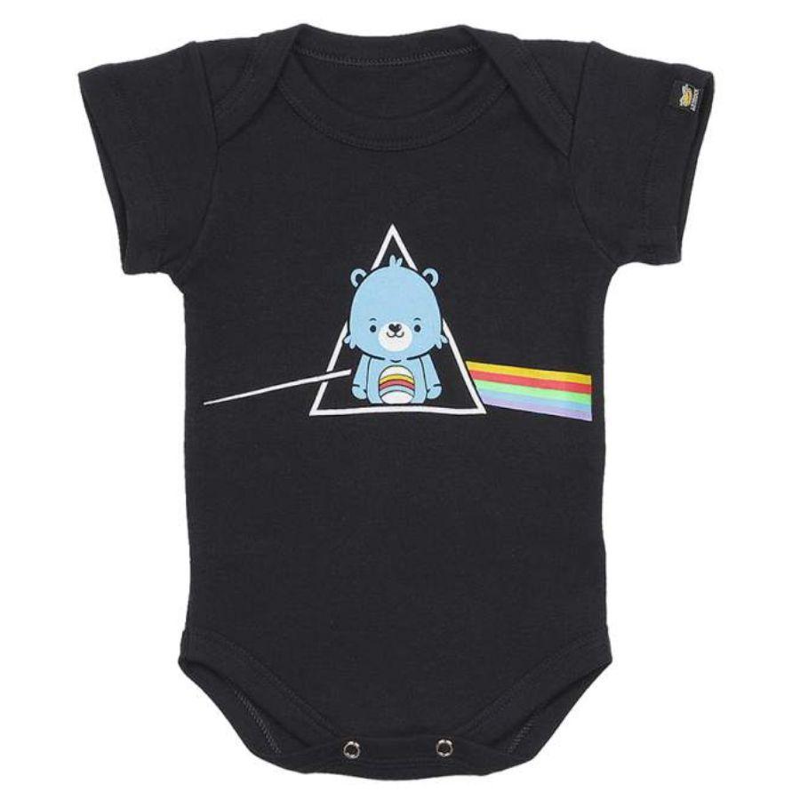 Bodie Infantil Pink Floyd Ursinho DS Preto Art Rock