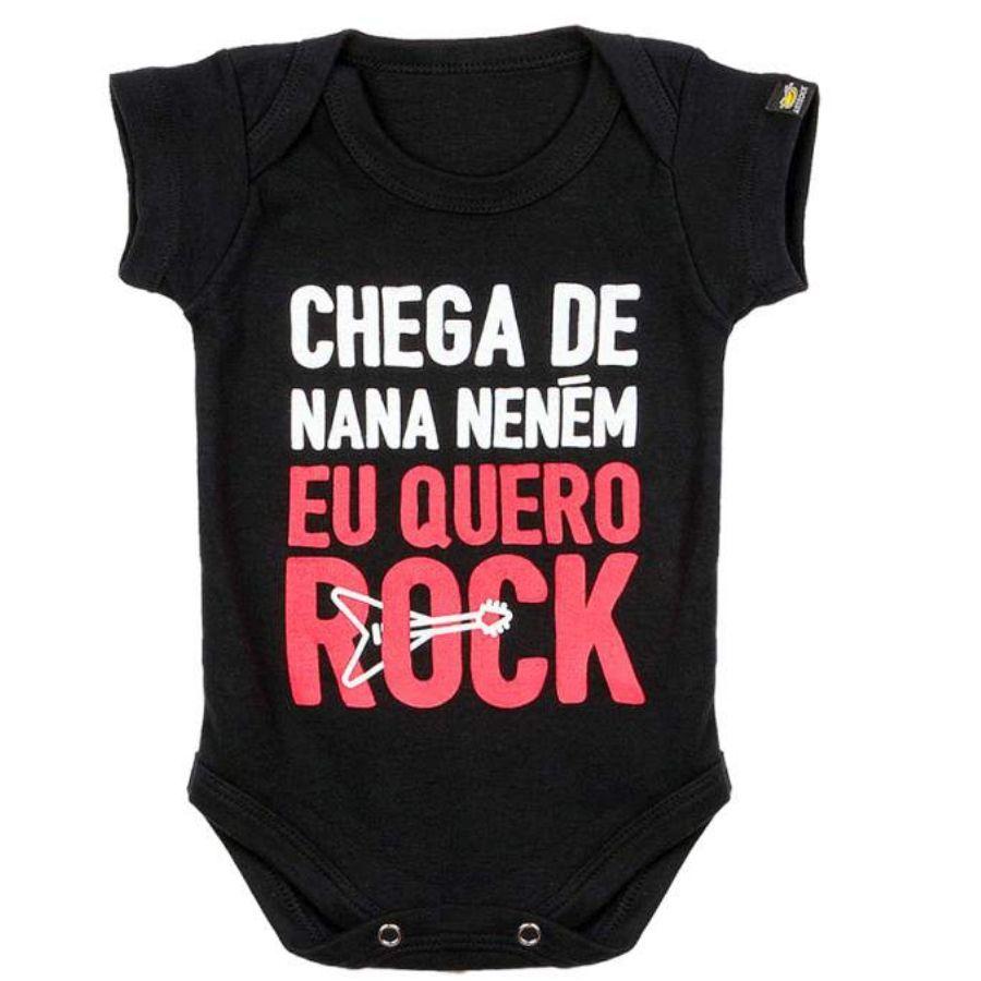 Bodie Infantil Preto Art Rock Chega de Nana Nenem