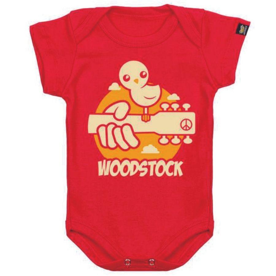Body Bebê Manga Curta Woodstock (Art Rock)
