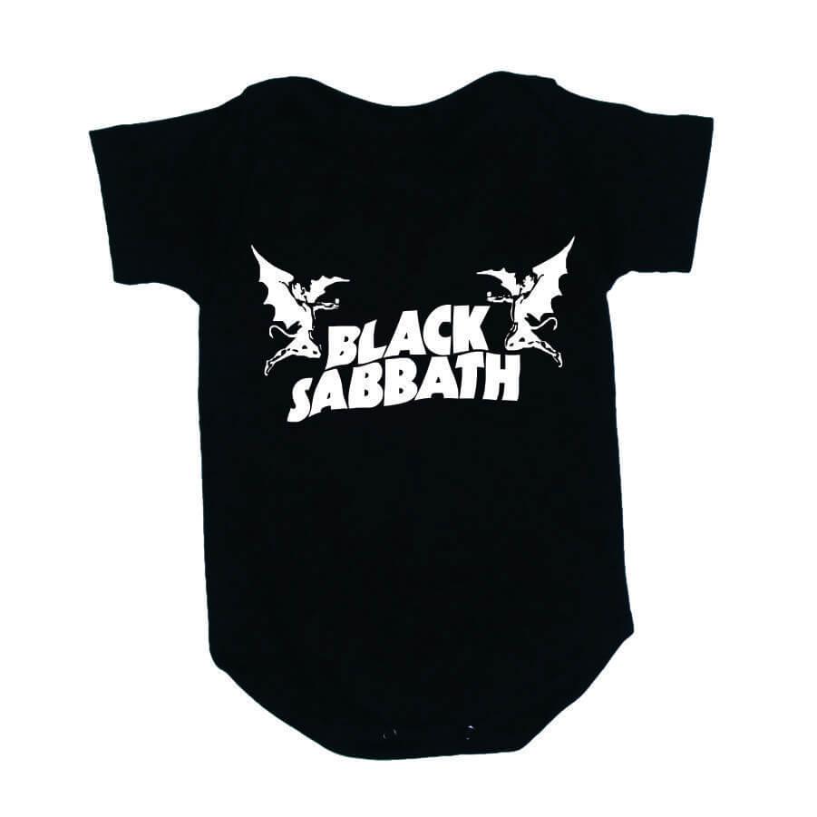 Body Black Sabbath Manga Curta Preto
