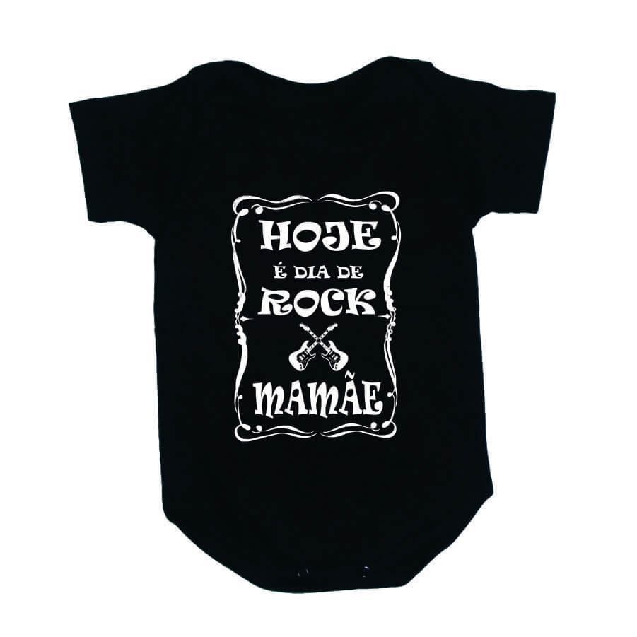 Body Divertido Hoje é Dia de Rock Mamãe Preto