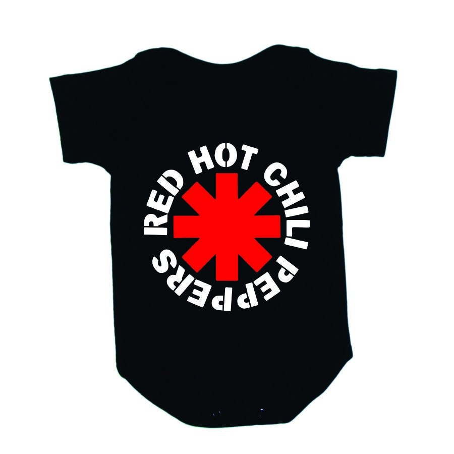 Body Manga Curta Red Hot Chill Peppers Preto