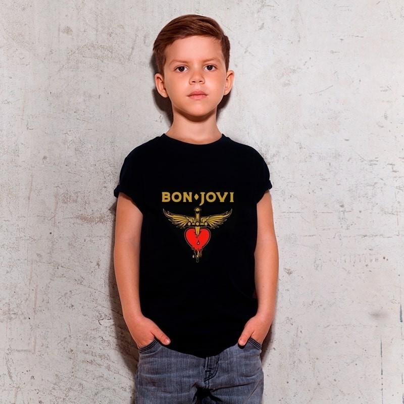Camiseta Bon Jovi Preta