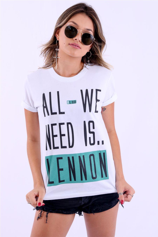 Camiseta Feminina All We Need Is.. Lennon