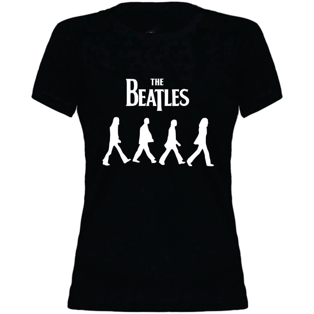 Camiseta Feminina Juvenil Beatles Abbey Road