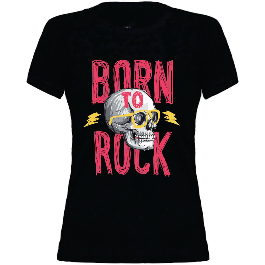 T-shirt Feminina Juvenil Born To Rock