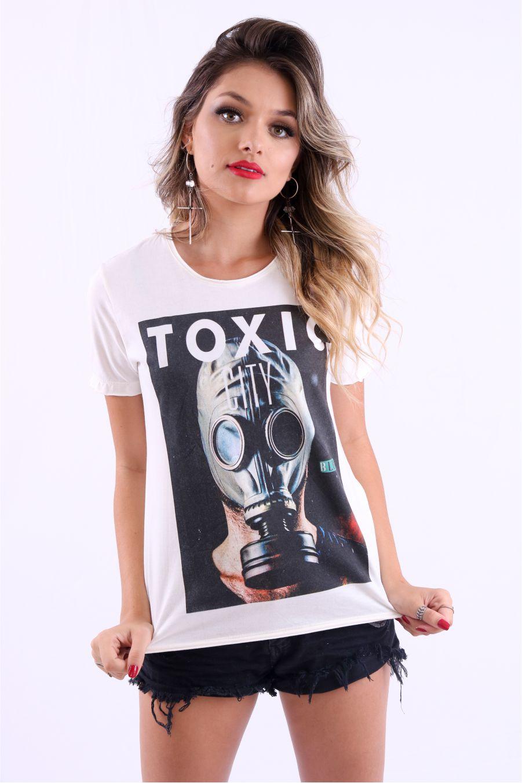 Camiseta Feminina Toxic City Blur by Little Rock