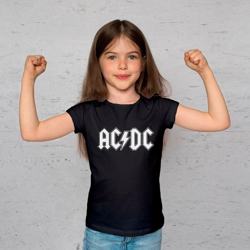 Camiseta Infantil Ac/Dc Preta