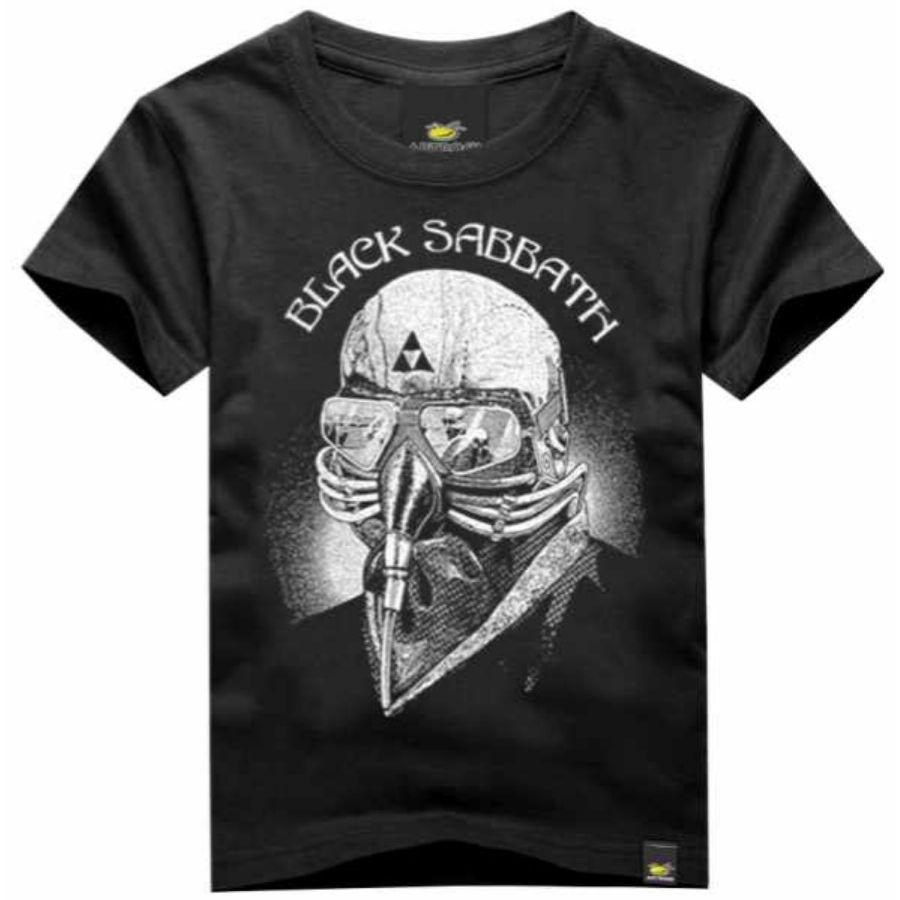 Camiseta Infantil Black Sabbath Iron Man Preta Art Rock