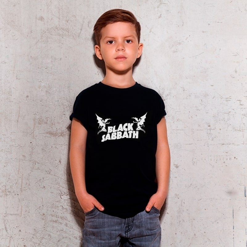 Camiseta Infantil Black Sabbath Preta