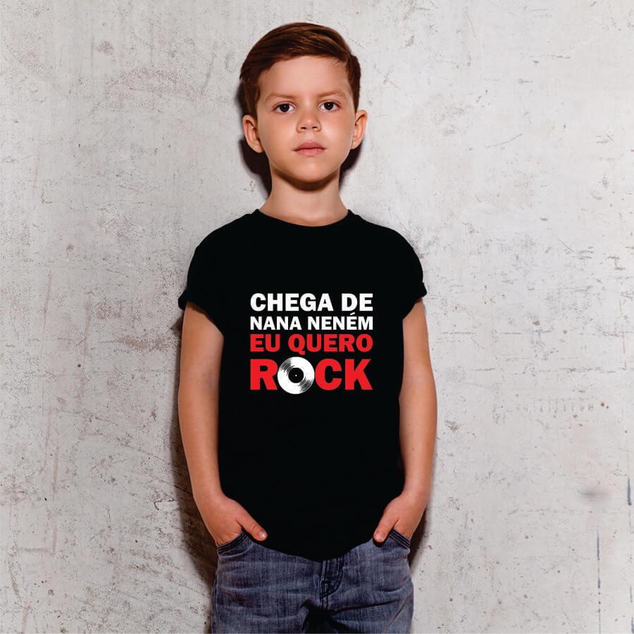 Camiseta Infantil Chega de Nana Nenem