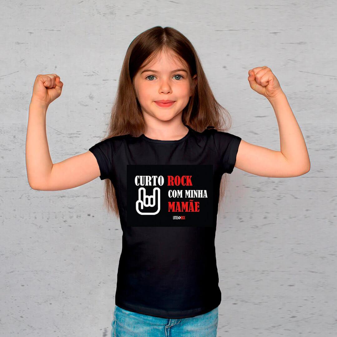 Camiseta INFANTIL Curto Rock com a Mamãe