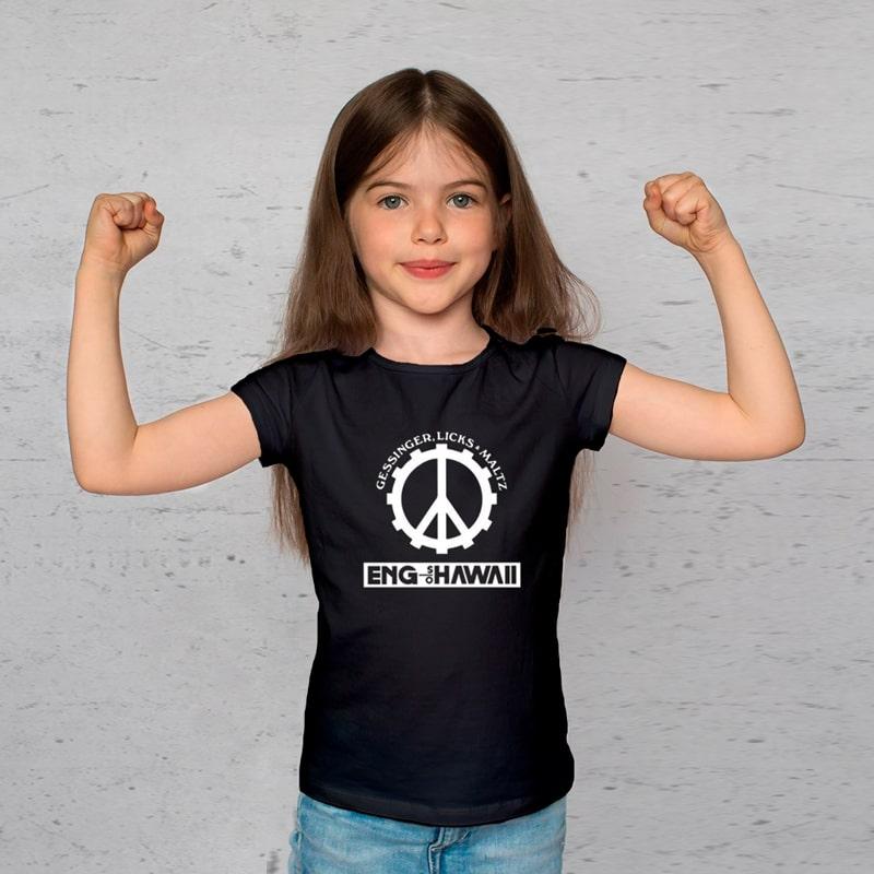 Camiseta Infantil Engenheiros do Hawaii Preta