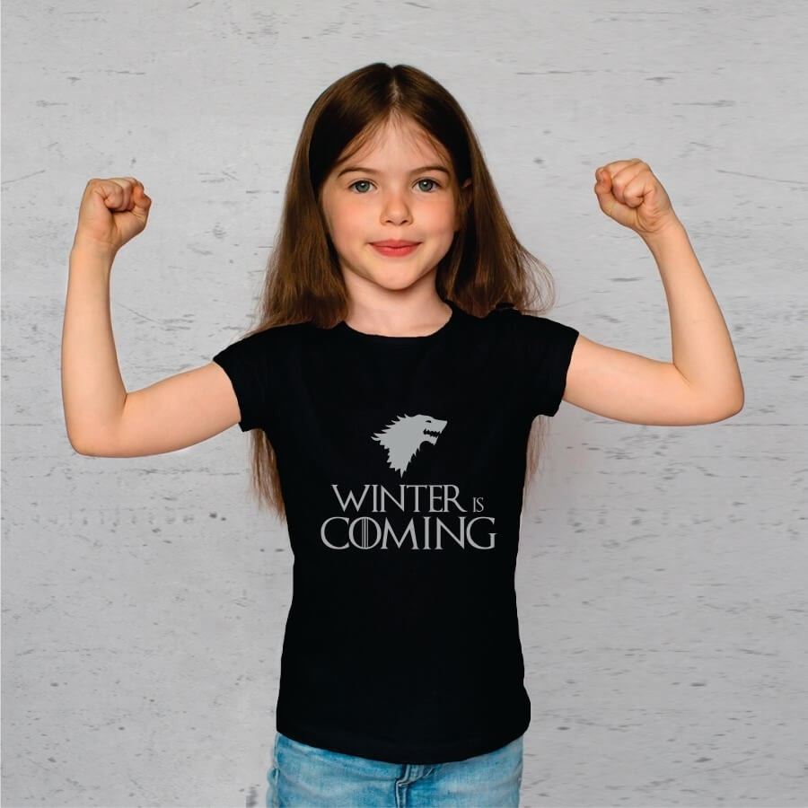 Camiseta INFANTIL Game Of Thrones - Winter is comming