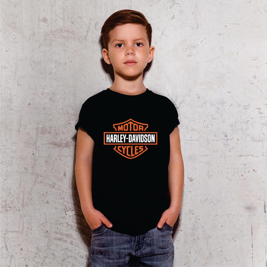 Camiseta Infantil Harley Davidson