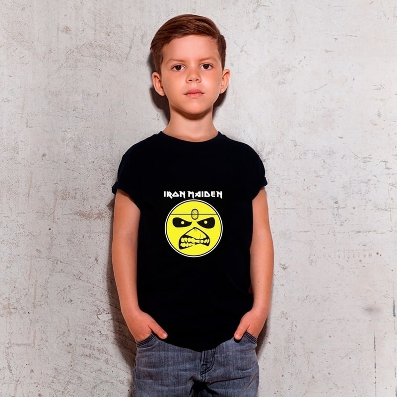 Camiseta Infantil Iron Maiden Preta