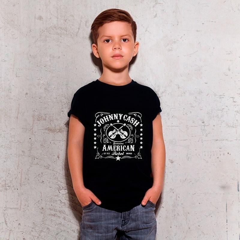 Camiseta Infantil Johnny Cash