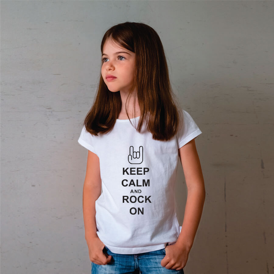 Camiseta Infantil Keep Calm Branca