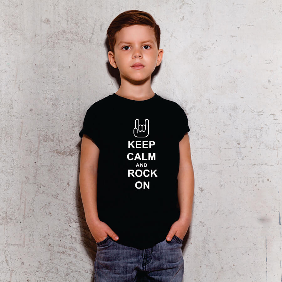 Camiseta Infantil Keep Calm Preta