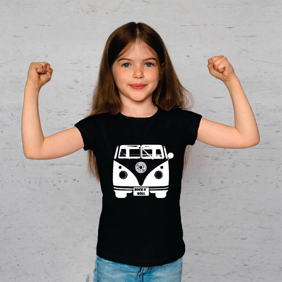 Camiseta Infantil Kombi Preta