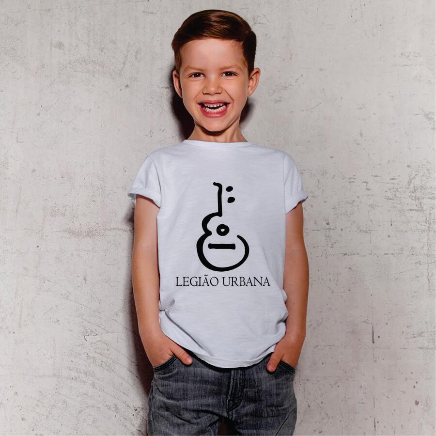Camiseta Infantil Legião Urbana Branca