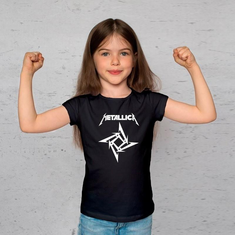 Camiseta Infantil Metallica Preta