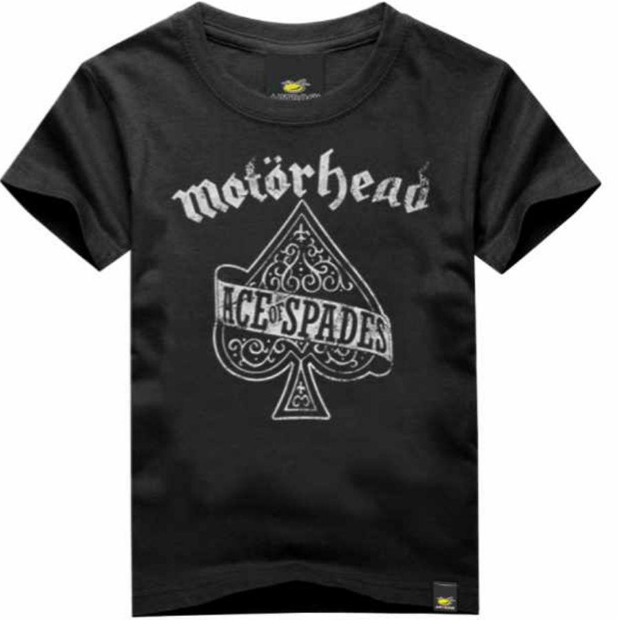 Camiseta Infantil Motorhead Ace of SpadesArt Rock